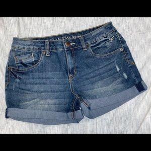 NEW Justice denim plus size shorts girls 12 1/2